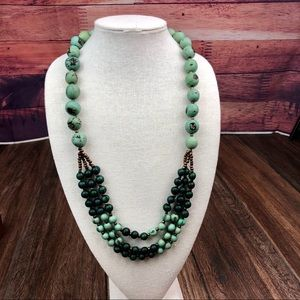 Dark/Light Green Açaí Seed Necklace